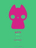 Pink Kitty Multilingual Poster Plastic Sign by  NaxArt