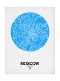 Moscow Street Map Blue Posters by  NaxArt