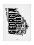 Georgia Word Cloud 2 Poster by  NaxArt
