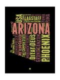 Arizona Word Cloud 1 Print by  NaxArt