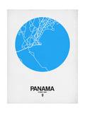 Panama Street Map Blue Print by  NaxArt