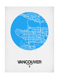 Vancouver Street Map Blue Prints by  NaxArt