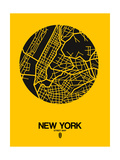 New York Street Map Yellow Posters by  NaxArt