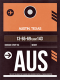 AUS Austin Luggage Tag 2 Plastic Sign by  NaxArt