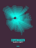 Copenhagen Radiant Map 2 Plastic Sign by  NaxArt