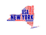 New York Word Cloud Map Poster by  NaxArt