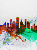 Dallas Watercolor Skyline Plastic Sign by  NaxArt