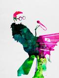 Elton Watercolor Signes en plastique rigide par Lora Feldman