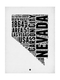 Nevada Word Cloud 2 Prints by  NaxArt