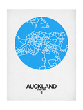 Auckland Street Map Blue Prints by  NaxArt