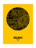 Beijing Street Map Yellow Posters by  NaxArt