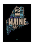 Maine Word Cloud 1 Prints by  NaxArt