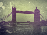Tower Bridge London Plastic Sign by  NaxArt