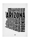 Arizona Word Cloud 2 Print by  NaxArt