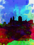 Cincinnati Watercolor Skyline Plastic Sign by  NaxArt