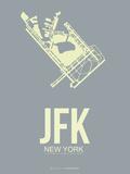 Jfk New York Poster 1 Plastic Sign by  NaxArt