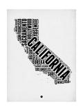 NaxArt - California Word Cloud 2 Umělecké plakáty