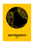 San Francisco Street Map Yellow Posters by  NaxArt