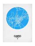 Cairo Street Map Blue Posters by  NaxArt