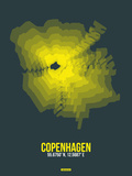 Copenhagen Radiant Map 1 Plastic Sign by  NaxArt