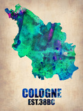 Cologne Watercolor Poster Plastic Sign by  NaxArt