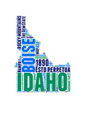 Idaho Word Cloud Map Posters by  NaxArt
