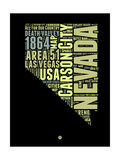 Nevada Word Cloud 1 Art by  NaxArt