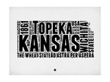 Kansas Word Cloud 2 Poster von  NaxArt