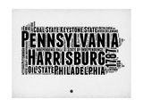 Pennsylvania Word Cloud 2 Posters by  NaxArt