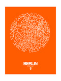 Berlin Street Map Orange Posters by  NaxArt