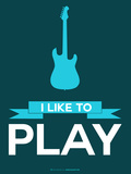 I Like to Play 8 Plastic Sign by  NaxArt