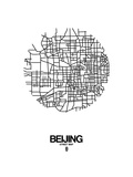 Beijing Street Map White Art by  NaxArt