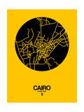 Cairo Street Map Yellow Prints by  NaxArt