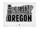 Oregon Word Cloud 1 Art by  NaxArt