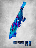 Manhattan New York Plastic Sign by  NaxArt