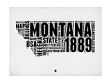 Montana Watercolor Word Cloud Print by  NaxArt
