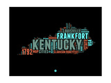 Kentucky Word Cloud 1 Posters by  NaxArt