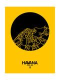 Havana Street Map Yellow Kunstdrucke von  NaxArt