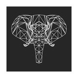 Elephant Polygon Prints by Lisa Kroll