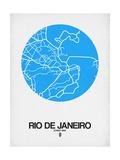 Rio de Janeiro Street Map Blue Posters por NaxArt