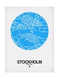 Stockholm Street Map Blue Kunst af  NaxArt