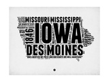 Iowa Word Cloud 2 Poster by  NaxArt