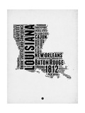 Louisiana Word Cloud 2 Posters by  NaxArt