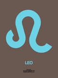Leo Zodiac Sign Blue Plastic Sign by  NaxArt
