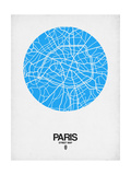 Paris Street Map Blue Art by  NaxArt