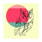 Owl and Sunset Kunst van Lisa Kroll