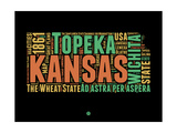 Kansas Word Cloud 1 Posters by  NaxArt