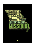 Missouri Word Cloud 1 Posters by  NaxArt