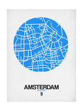 Amsterdam Street Map Blue Prints by  NaxArt
