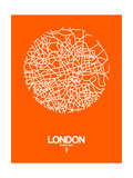 London Street Map Orange Prints by  NaxArt